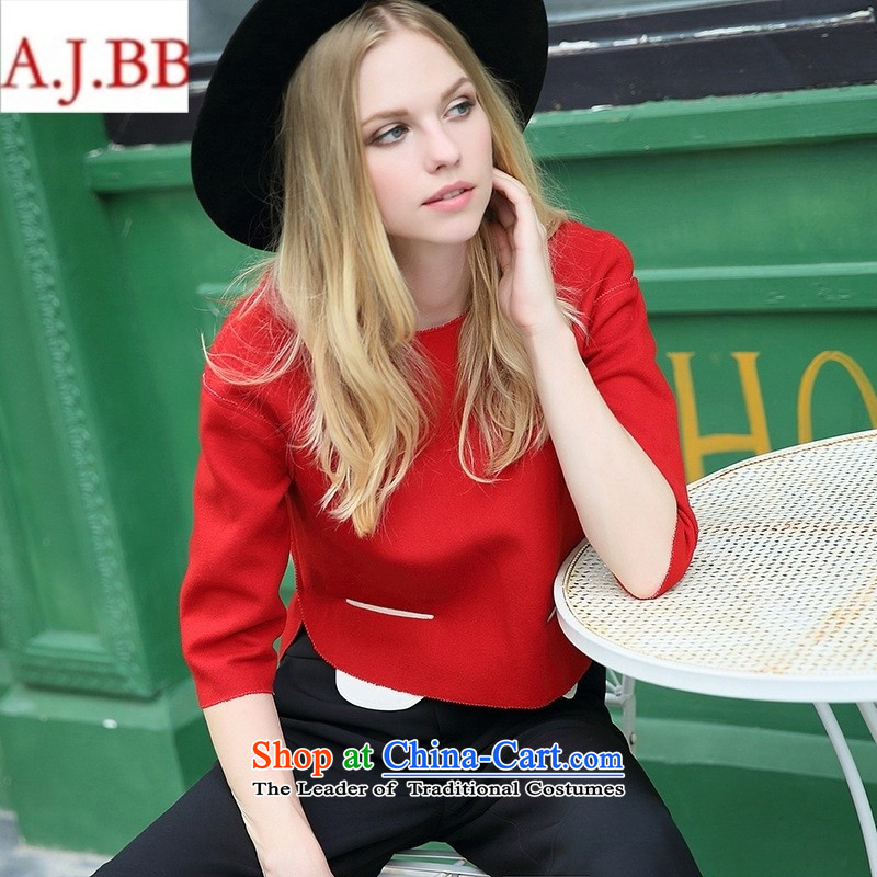 Orange Tysan _ European site Fall 2015 for women in Europe and the stylish-sleeved T-shirt Q152987K black?M