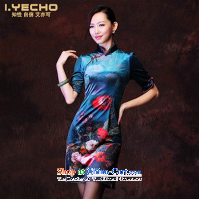 Mano-hwan, 201 new autumn and winter female Korean Stamp Stylish retro improvements lint-free in the ordinary course of Qipao cuff figure?L