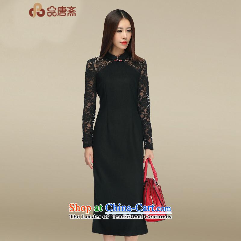 No. Tang lace cheongsam dress Ramadan 2015 new cheongsam retro long picture colorS