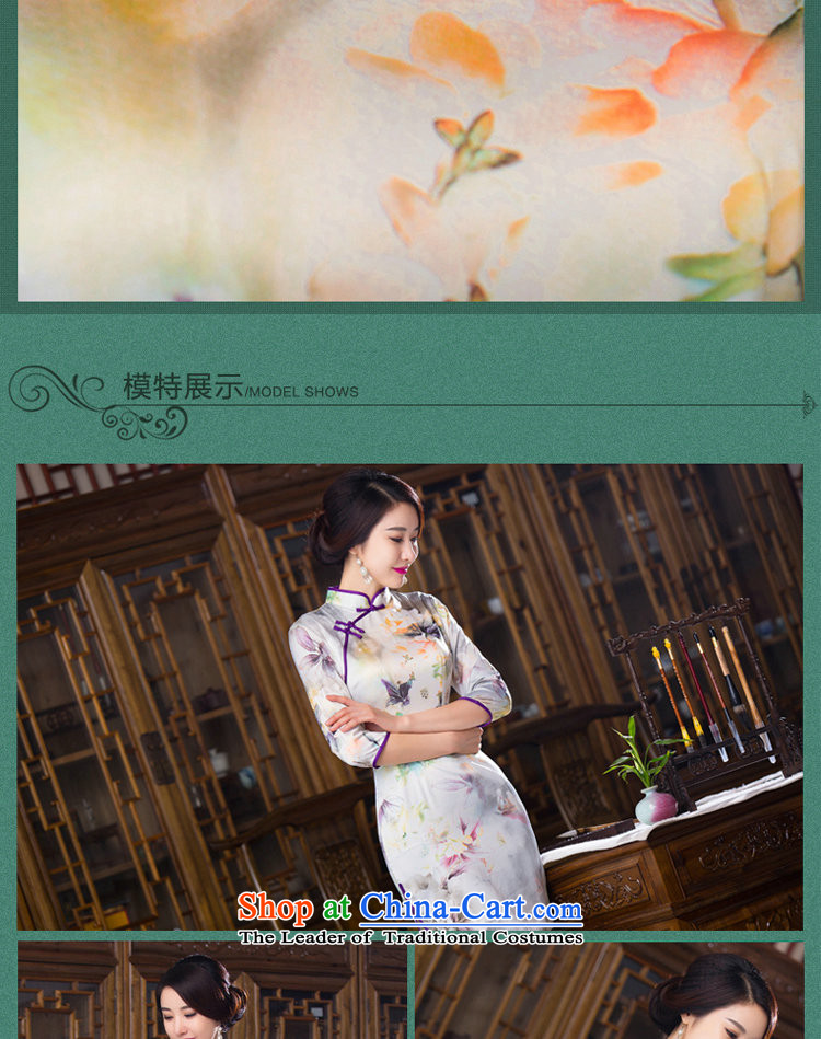 Floral Autumn Women's clothes retro Chinese improved Mock-neck 7 cuff cheongsam dress Silk Cheongsam short as shown in figure ) color聽pictures, prices, XL brand platters! The elections are supplied in the national character of distribution, so action, buy now enjoy more preferential! As soon as possible.