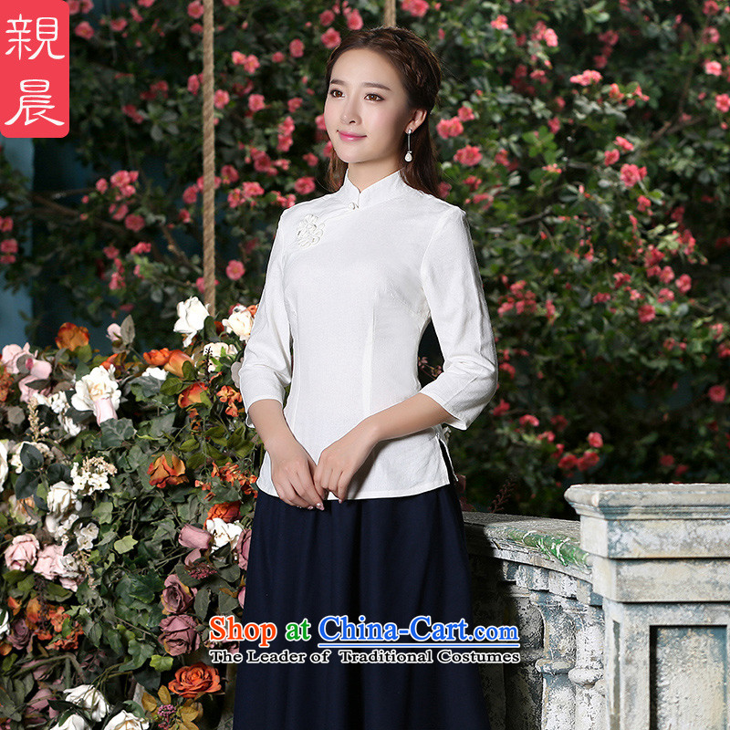 At 2015 new pro-Fall_Winter Collections of nostalgia for the improvement in the day-to-day long cotton linen dresses female qipao shirt shirt 2XL