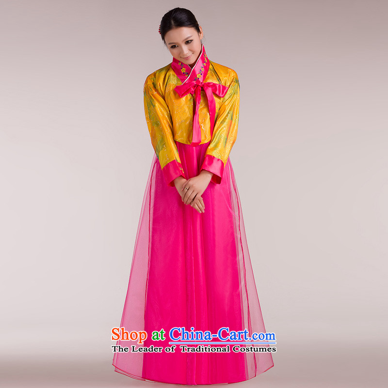 Time out of the Syrian cultural dance performances of classical serving traditional palace costume Hanbok dress chorus dress large petticoats deep red floor are suitable for 160-175cm code