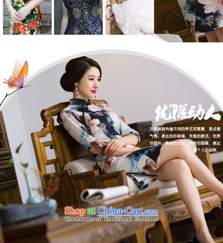 Naoji a retro style improved graphics thin beauty in the long load routine qipao qipao autumn skirt SM9160 map color聽pictures, prices, XXL brand platters! The elections are supplied in the national character of distribution, so action, buy now enjoy more preferential! As soon as possible.