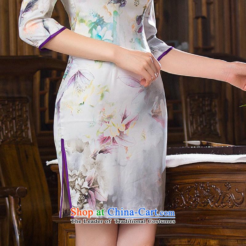 Naoji with elegant qipao stamp Graphics Improvement thin retro temperament Sau San cheongsam dress SM9161 map color聽M naoji a , , , shopping on the Internet