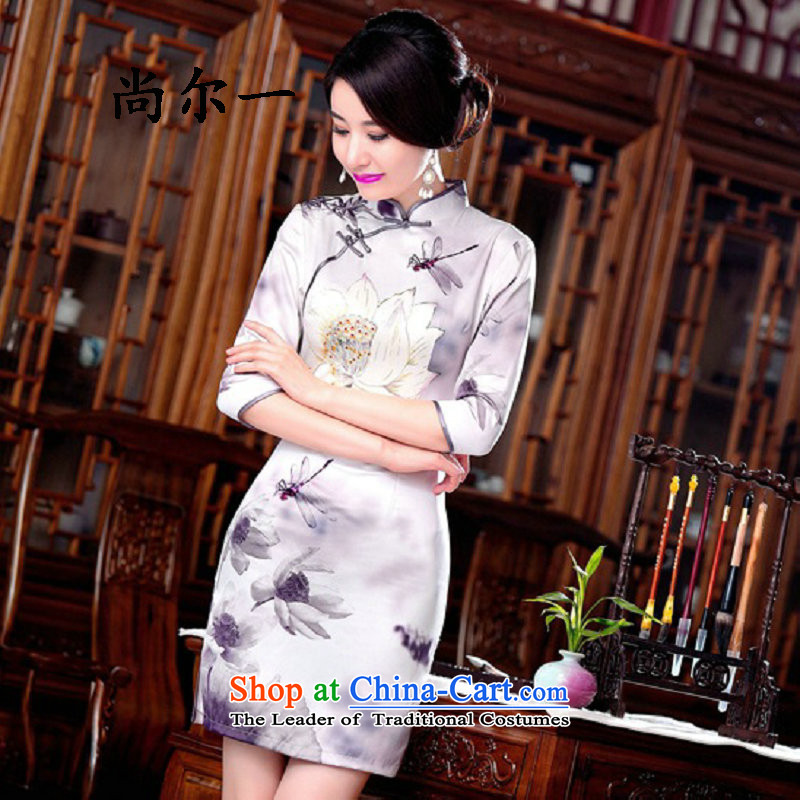 Yet, a new paragraph with daily retro improvements fall short of the mother in the Cuff cheongsam dress skirt SM9162 map color燣