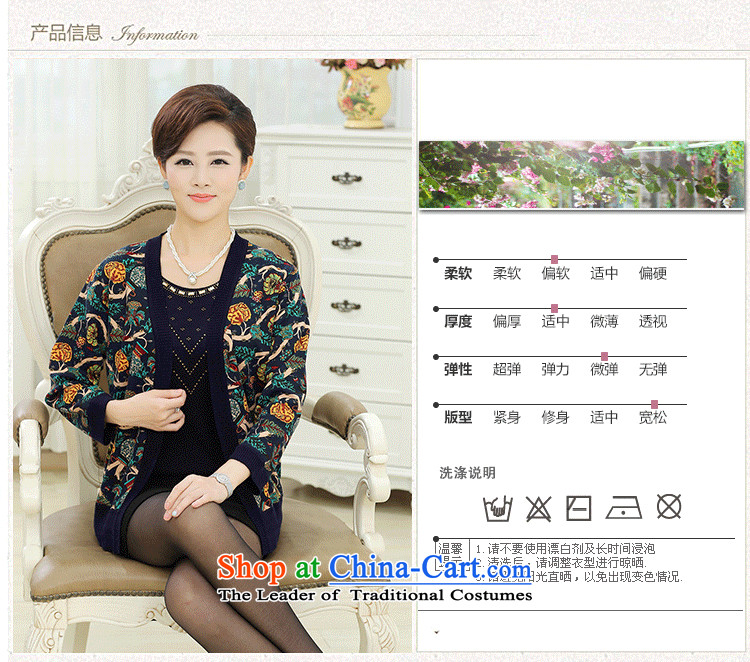 * New fall apples-hong) Older really two kits Knitted Shirt girl aged 40-50 Cardigan larger mother replacing sweater jacket聽3XL blue lake picture, prices, brand platters! The elections are supplied in the national character of distribution, so action, buy now enjoy more preferential! As soon as possible.