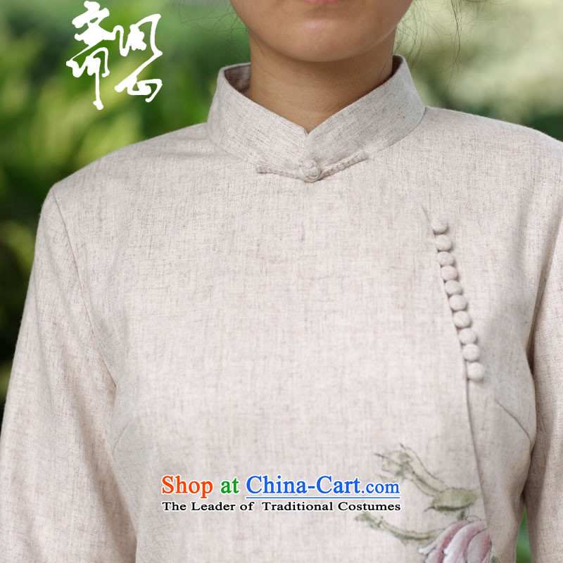 Ask the heart of Ramadan (MING HEART HEALTH women fall of Chinese Mock-Neck Shirt wool sweater hand-painted white聽M asked 2680 heart of Ramadan , , , shopping on the Internet