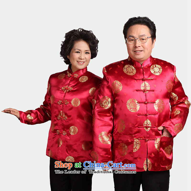 Older couples in Tang Dynasty Tang dynasty men and women of autumn and winter jackets T-shirt with mother loaded so father shou wedding gifts J0058 overalls 2383-2 performances male 165/L robe