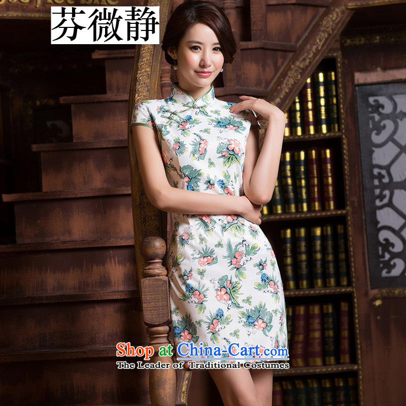 Stephen micro-ching Chinese Antique style short of improved Sau San qipao elegance bridesmaid dress dresses annual gifts high collar color pictures of the forklift truck low聽M