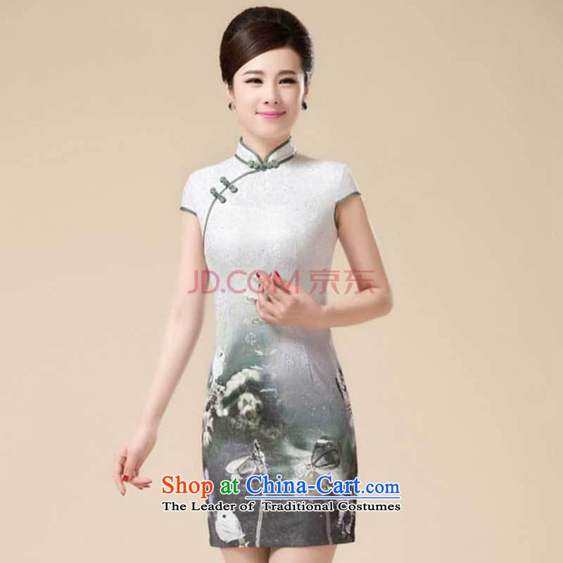 Replace cheongsam look like teenage Sau San Tong replacing niba improved dresses聽HZMWL1813聽gray聽XL, HIV has been qi (aiyaqi) , , , shopping on the Internet