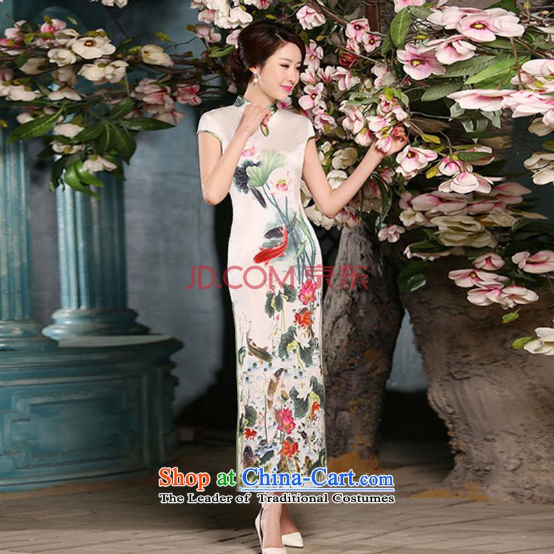 The National Women's wind energy silk Sau San retro long qipaoFZZ304 improvedpicture colorhas been Shuqi (XXL, HIV aiyaqi) , , , shopping on the Internet