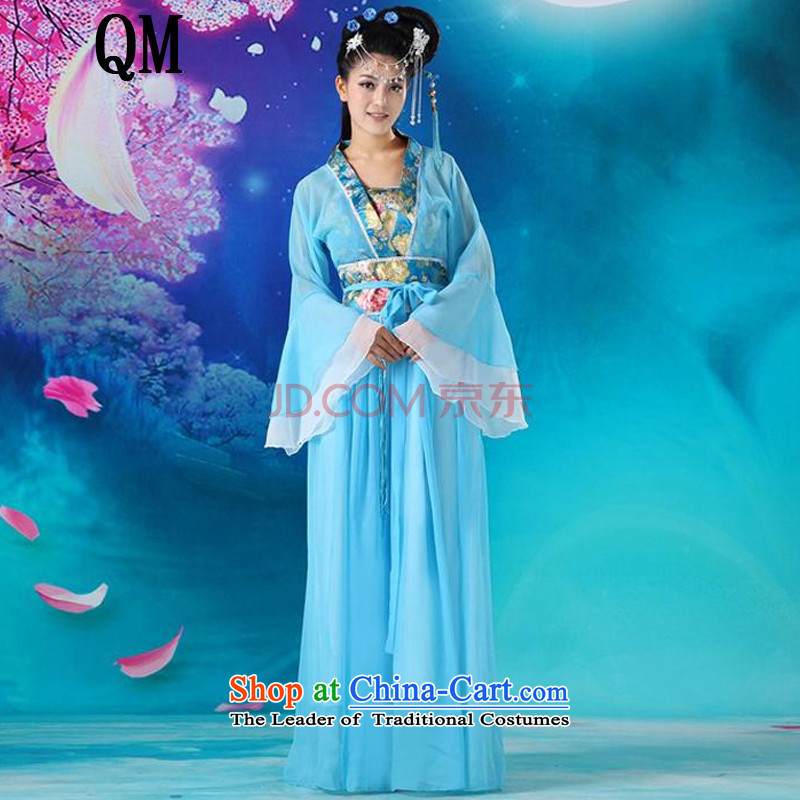 Ancient Han-floor, guzheng fairies Han-female stage performances serving a seven-Gwi-loaded�CX5 fairies magnificent�blue are code