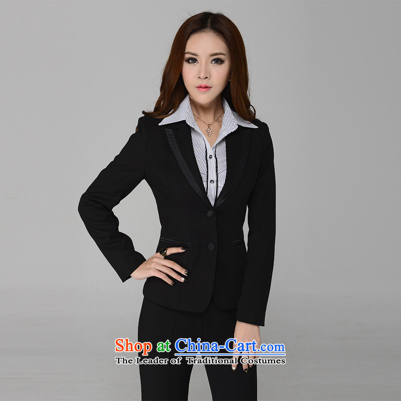 Soft clothing version of Web video thin vocational kits Sau San trousers attire Sau San video thin temperament is manager of uniform black�XXL