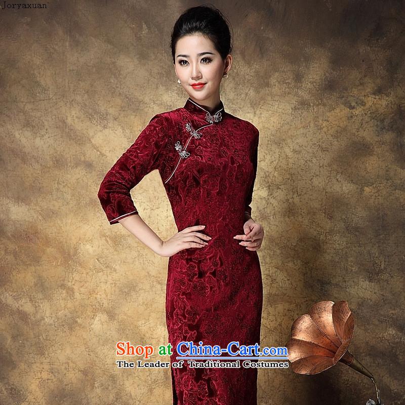 Women's Apparel soft web-Korea elegant qipao lint-free in-the-know retro China wind dress banquet long) qipao bourdeauxXL, Zhou Xuan Ya (joryaxuan) , , , shopping on the Internet