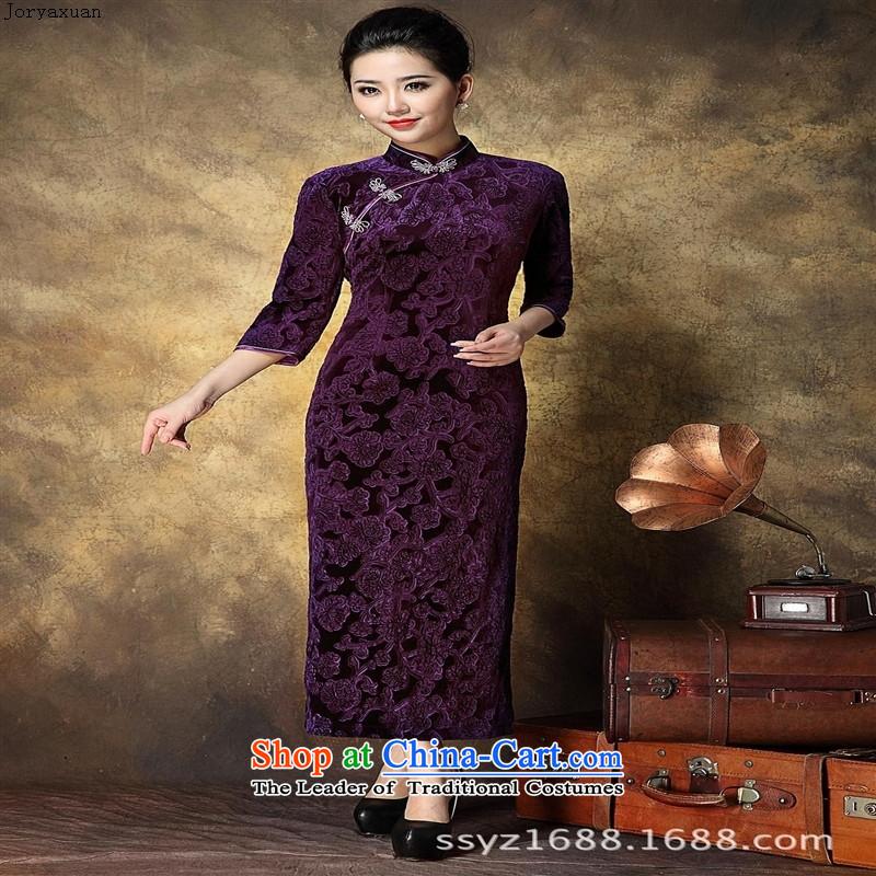 Women's Apparel soft web-Korea elegant qipao lint-free in-the-know retro China wind dress banquet long) qipao bourdeaux聽XL, Zhou Xuan Ya (joryaxuan) , , , shopping on the Internet
