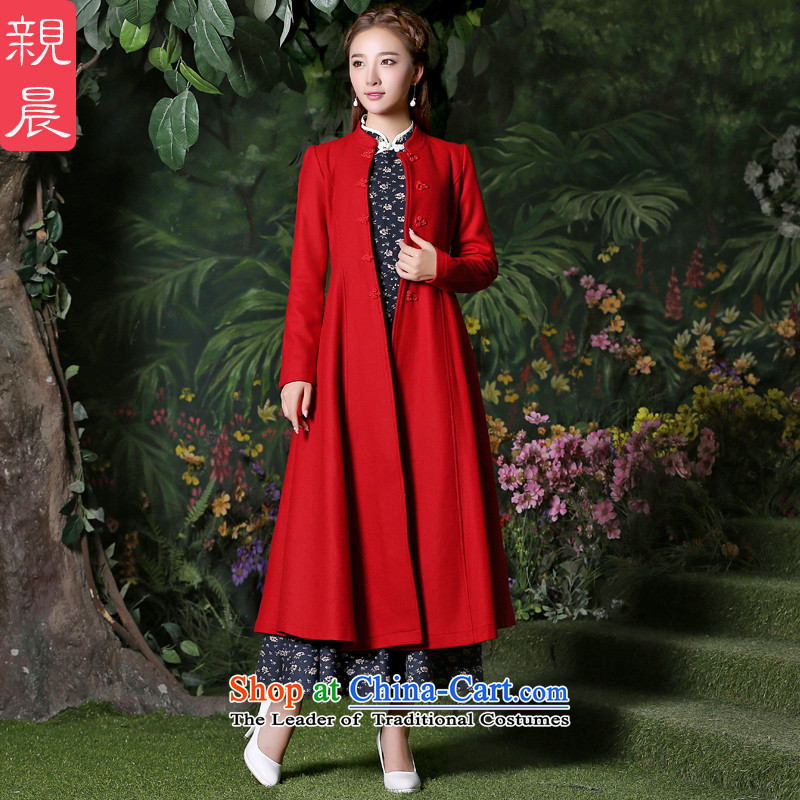 Gross girls jacket? Long autumn 2015 new products female windbreaker larger women a wool coat new fall inside a red jacket + ink, dresses?S