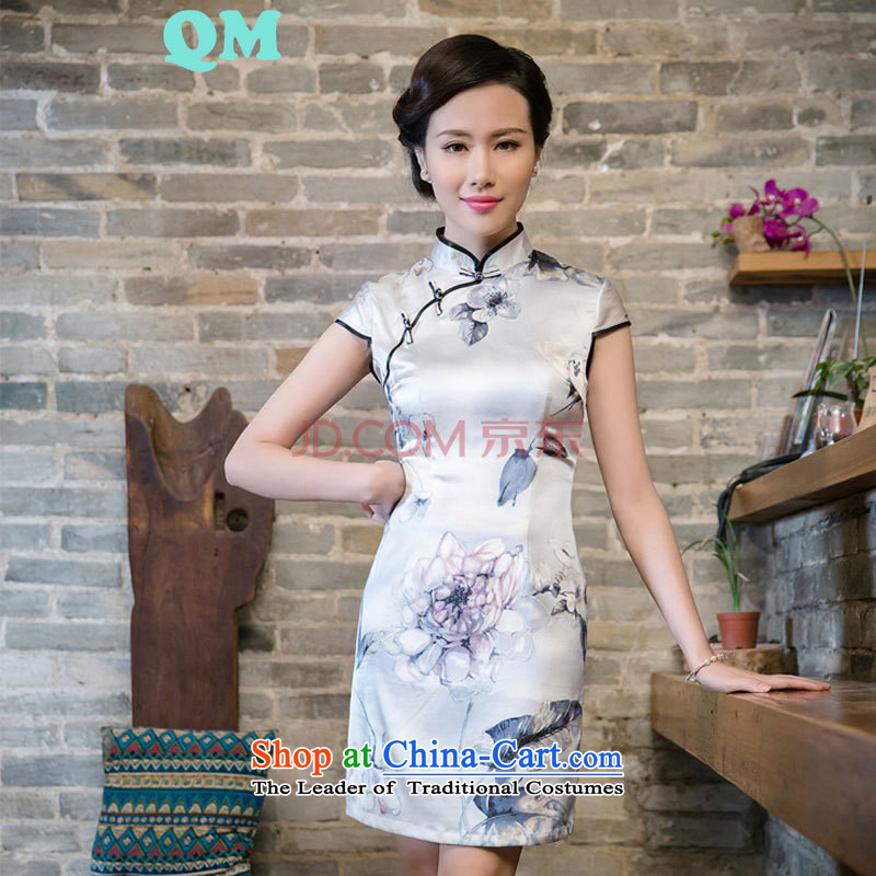 The skirt qipao gown JT2063 China wind white?L
