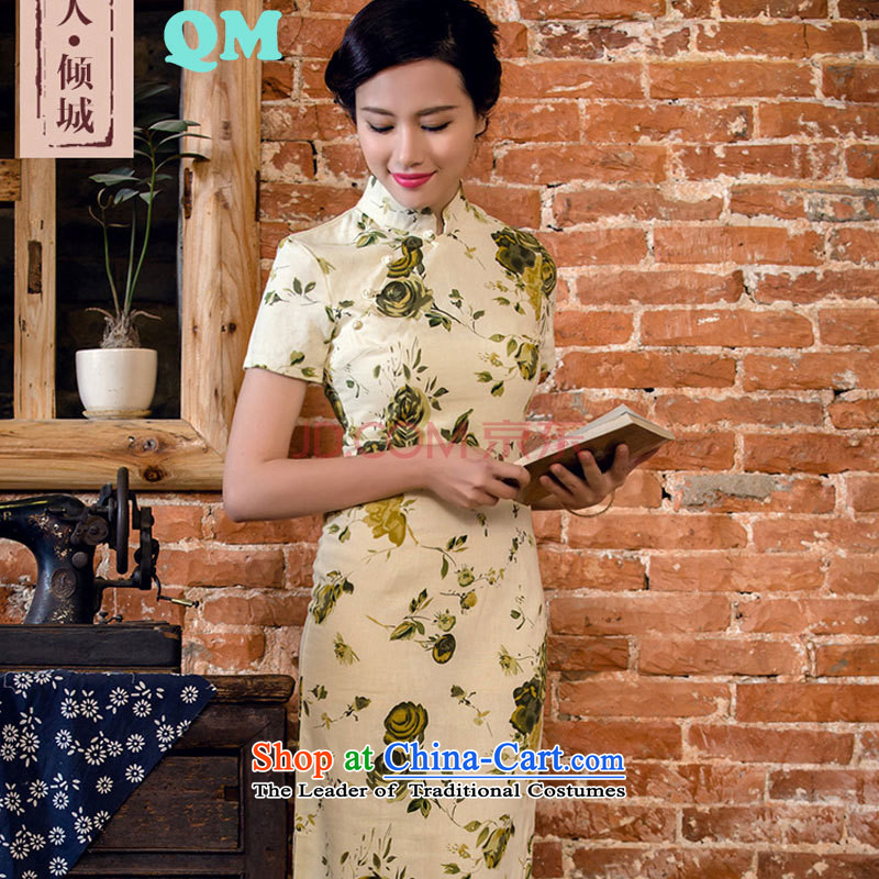 The skirt cheongsam dress suit China wind woman when street燡T2063 2015燬amui Tsing燲L