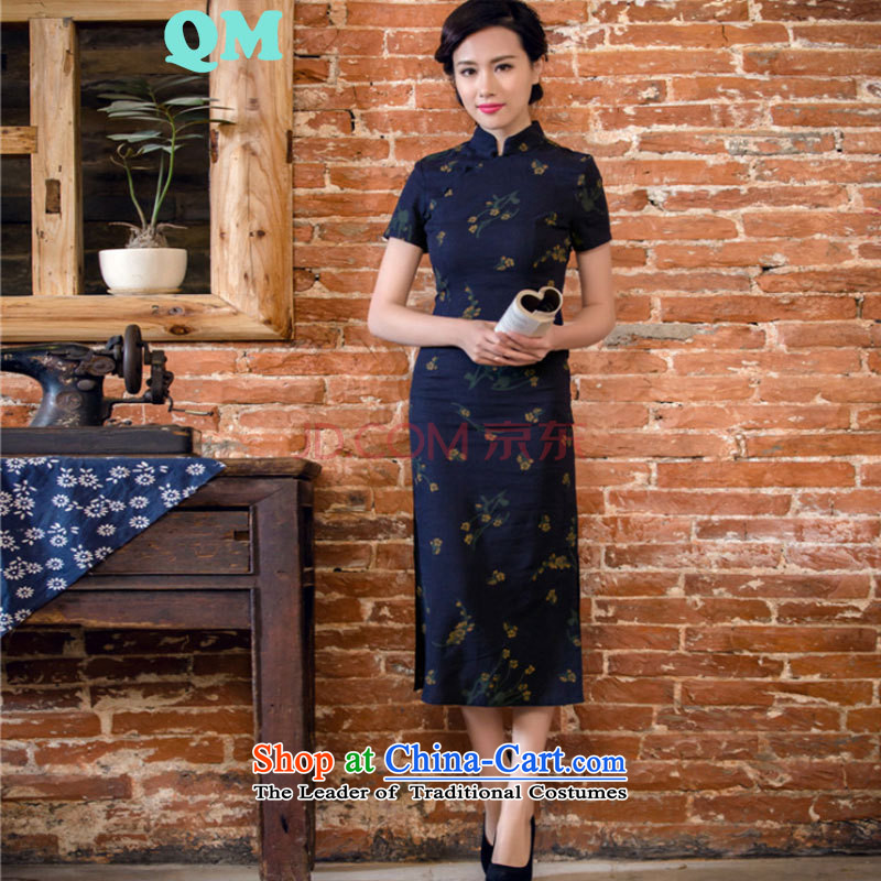 The skirt cheongsam dress suit China wind woman when street聽JT2063 2015聽Black聽XL