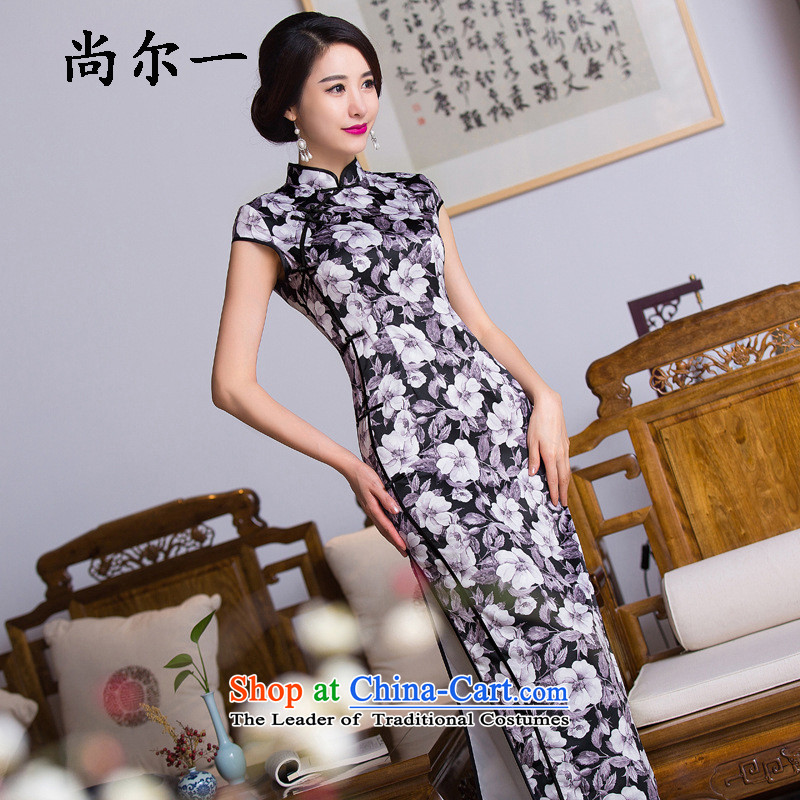 Yet, a new paragraph style reminiscent of the velvet improvement of the forklift truck elegant qipao Sau San video thin dresses SM91607 map color燲L