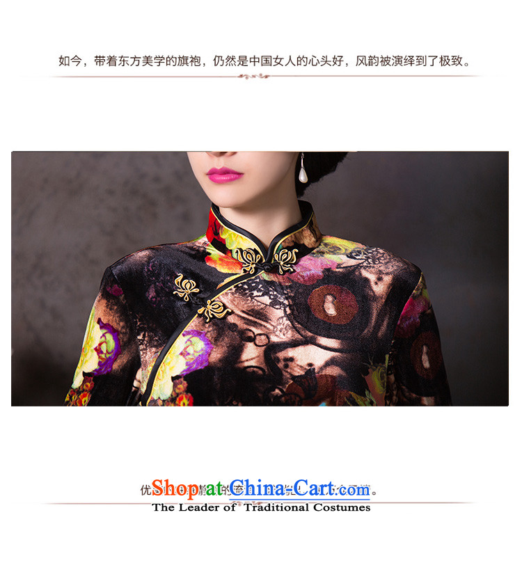 Dan聽2015 Autumn smoke female Chinese collar Stretch Wool qipao retro 7 Cuff Sau San cheongsam dress figure color聽L picture, prices, brand platters! The elections are supplied in the national character of distribution, so action, buy now enjoy more preferential! As soon as possible.