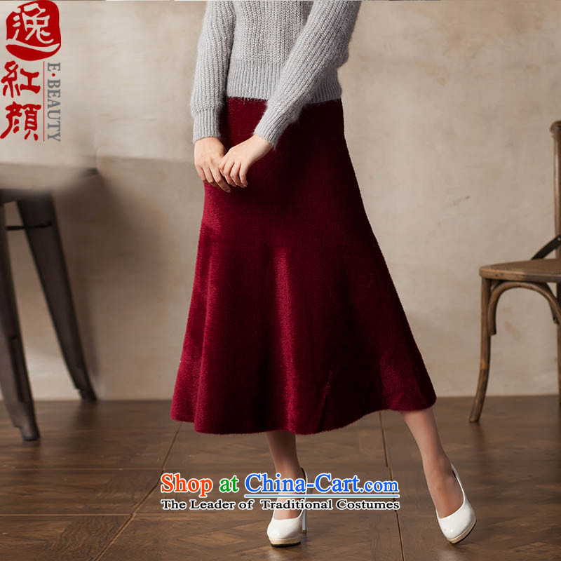A Pinwheel Without Wind Lai Yat燙hu load this 2015 new product segment long skirt emulation stingrays lint-free wild arts retro long skirt rouge are code segment