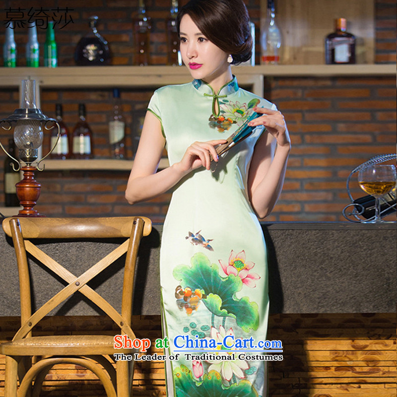 The cross-sa and arabic new cheongsam dress long summer daily qipao qipao燪D238 improved爌icture color�L