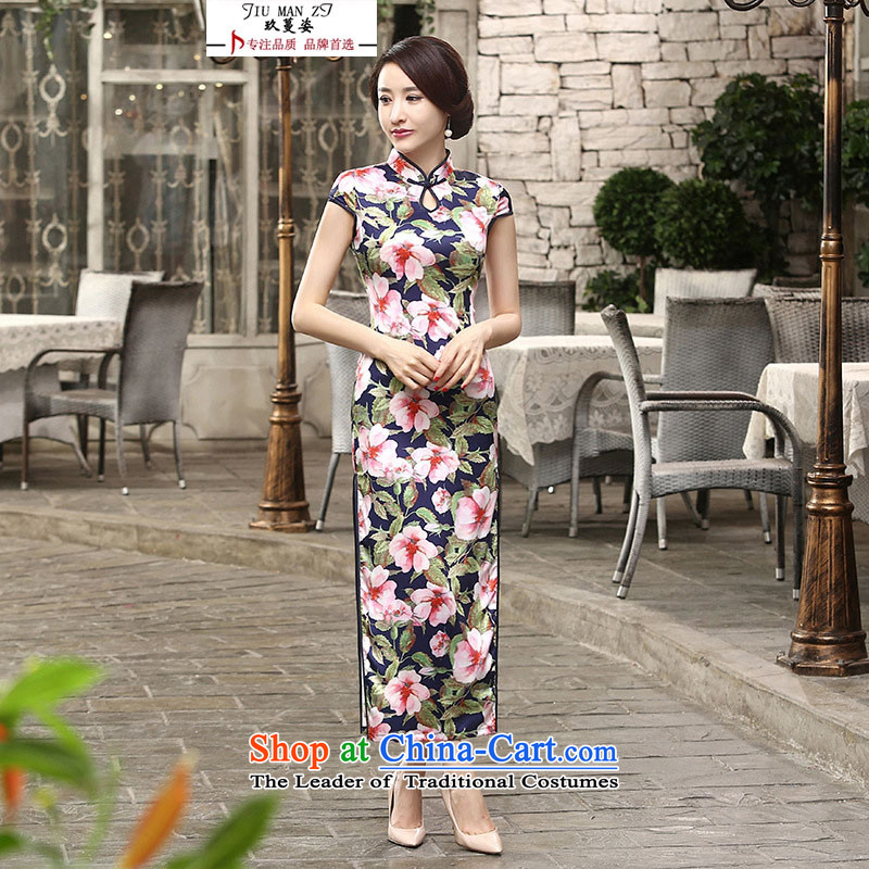 Ko Yo Overgrown Tomb Gigi Lai women cheongsam dress banquet business etiquette skirt retro elegant collar dresses silk skirt Sau San long qipao performances C0017 C0018 L