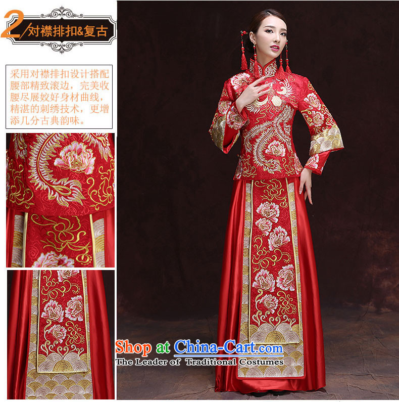Time Syrian Chinese style wedding dresses wedding gown red marriages bows wedding dresses-soo summer services wo service retro dragon use RED M picture, prices, brand platters! The elections are supplied in the national character of distribution, so action, buy now enjoy more preferential! As soon as possible.