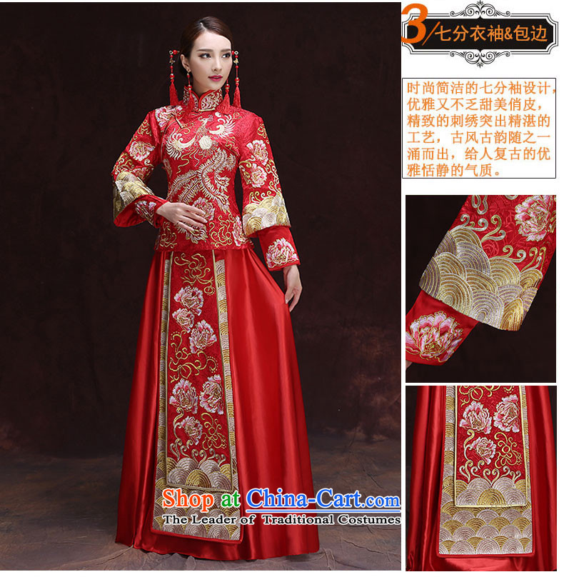 Time Syrian Chinese style wedding dresses wedding gown red marriages bows wedding dresses-soo summer services wo service retro dragon use RED聽M picture, prices, brand platters! The elections are supplied in the national character of distribution, so action, buy now enjoy more preferential! As soon as possible.