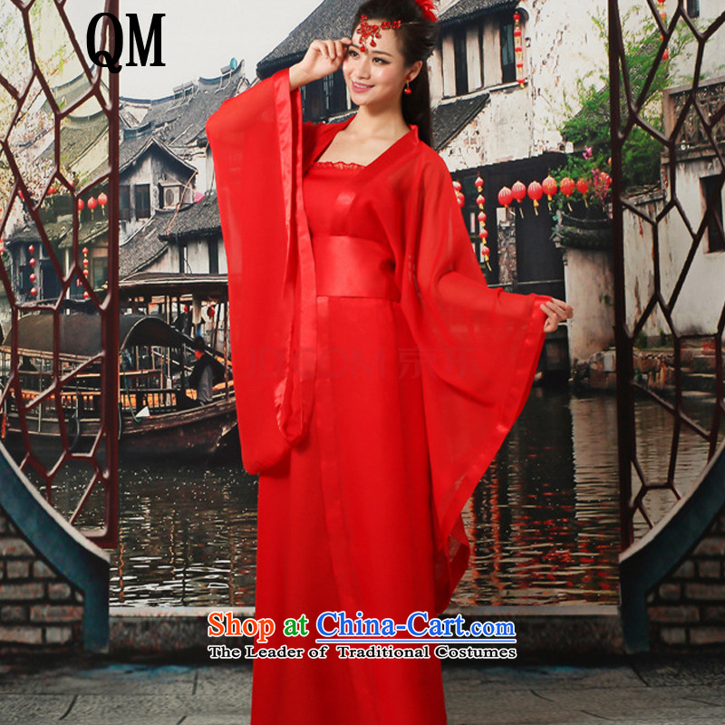 At the end of Light Classical Han-Tang dynasty ancient Han-Princess women CX7 cosplay costumes red Breast 85