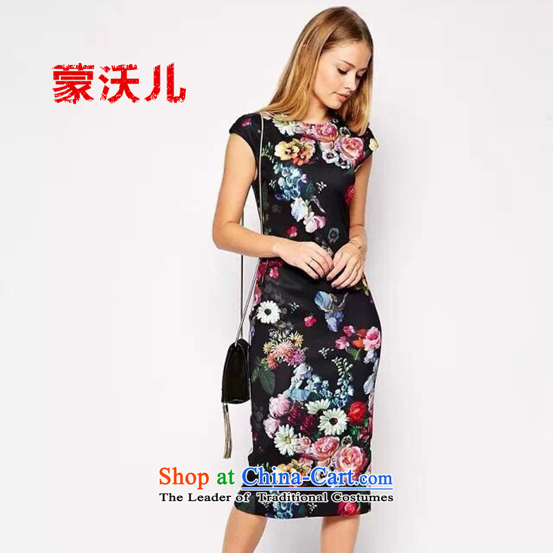 ?2015-Europe and Monrovia Kosovo graphics package and Sau San thin dress cheongsam picture color?XL