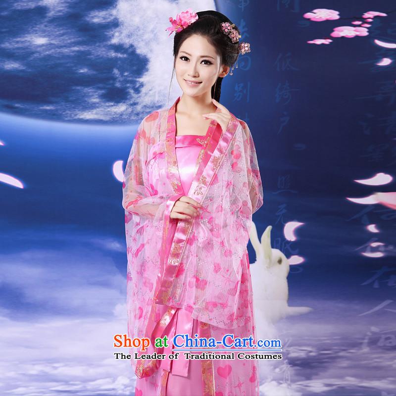 Time Syrian fairies skirt costume of the Tang dynasty princess Gwi-loaded gliding Han-load fairies costume fairy tails will long skirt toner yarn photo building are suitable for 160-175cm code