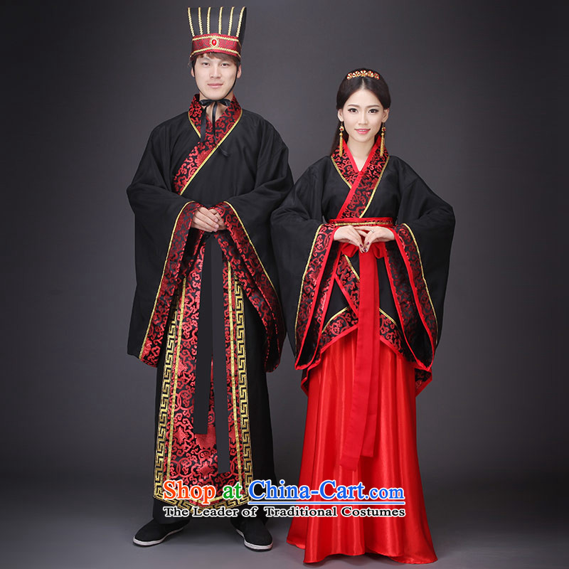 Time Syrian Chinese style wedding Han to Tang dynasty historian marriage solemnisation red bride wedding dress tail ancient lady's floor Han-men and women theme photo album will marry Classics pack photo building are suitable for 160-175cm code