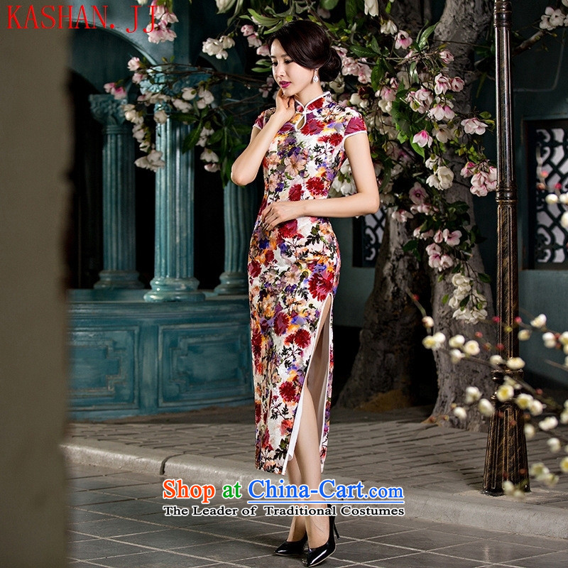 Mano-hwan's 2015 Autumn new cheongsam dress heavy wool retro long qipao gown length improved daily Sau San tasty?S