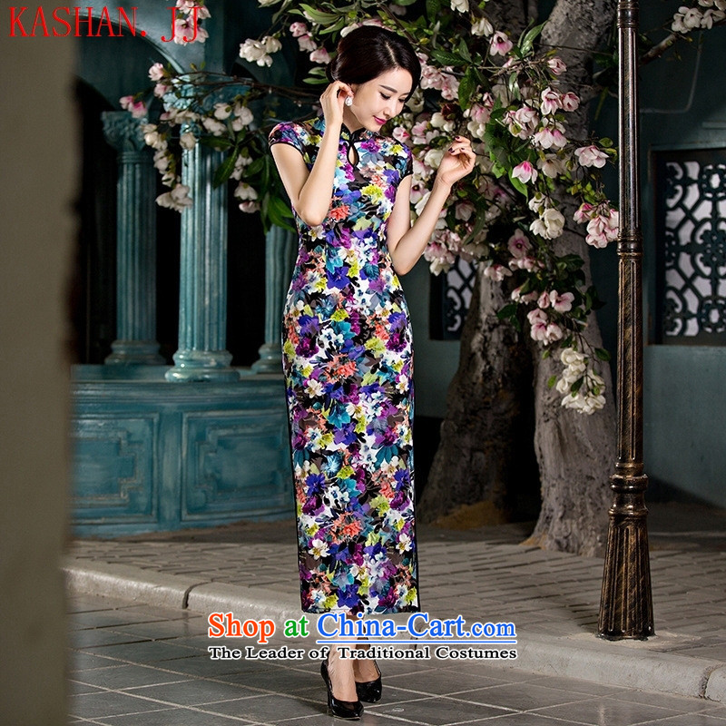 The autumn's new-hwan heavy wool qipao retro long high on the forklift truck stylish qipao skirt ?ü???XL
