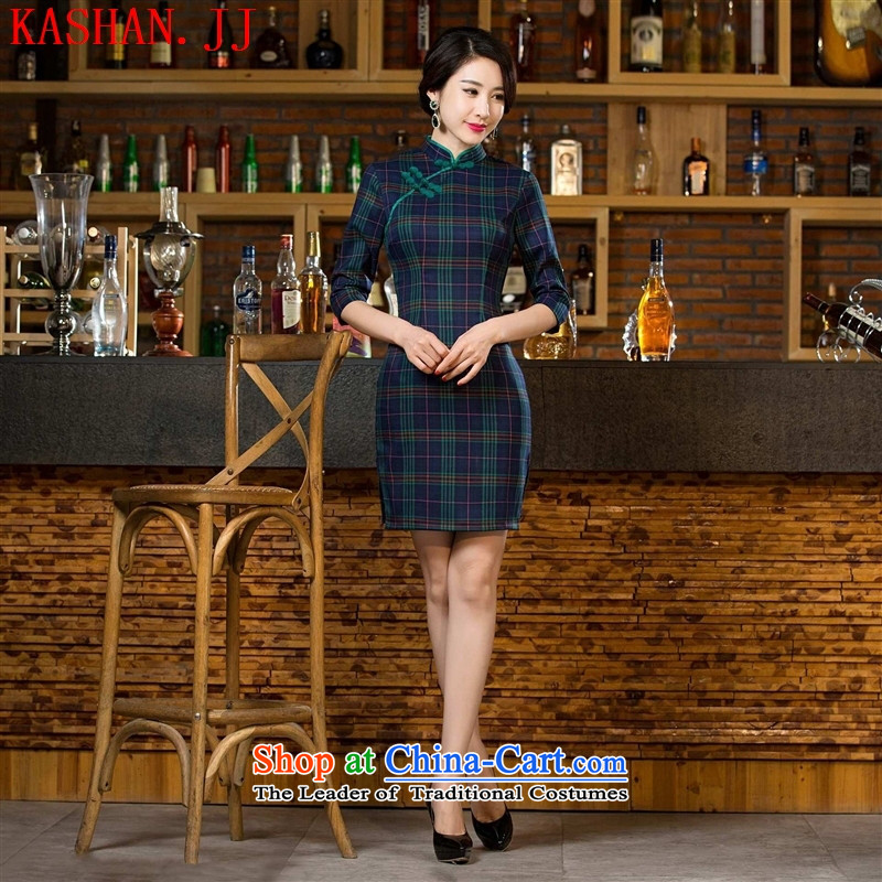 Mano-hwan, a compartment cuff 2015 improved qipao new stylish retro skirt autumn replacing Ms. improved qipao cheongsam dress figure�L