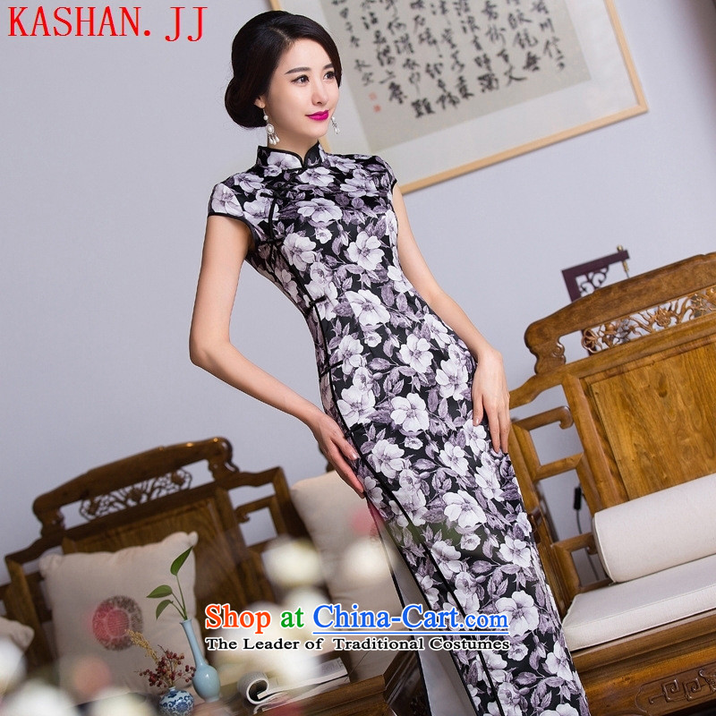 Mano-hwan's long qipao 2015 improved new retro qipao skirt style qipao improved Ms. load autumn cheongsam dress figure?M