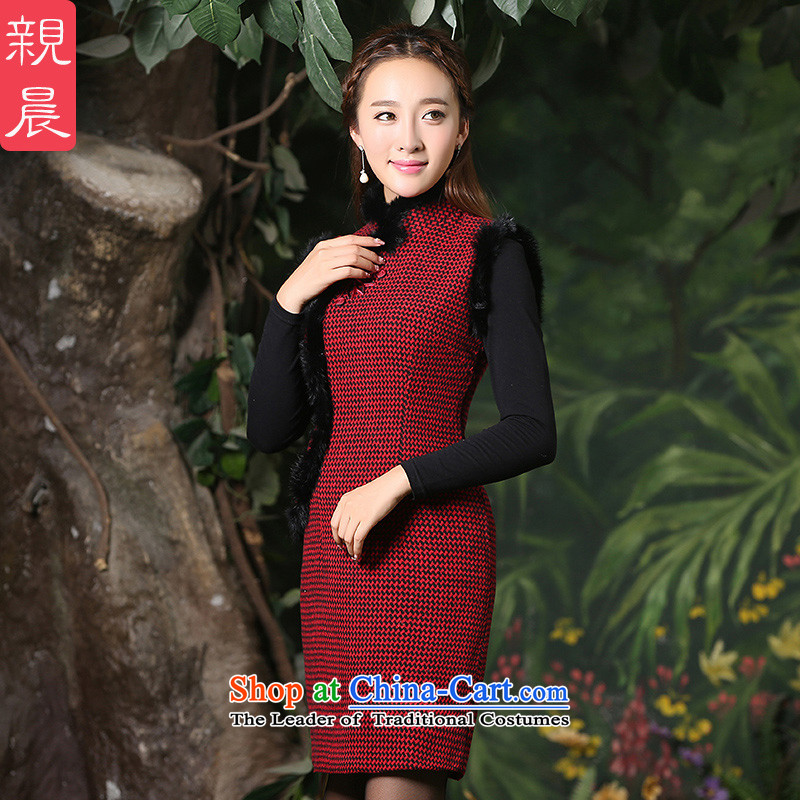 The new 2015 pro-am winter) thick daily cheongsam dress traditional Tang dynasty improved Ms. stylish cotton vest short of picture color M