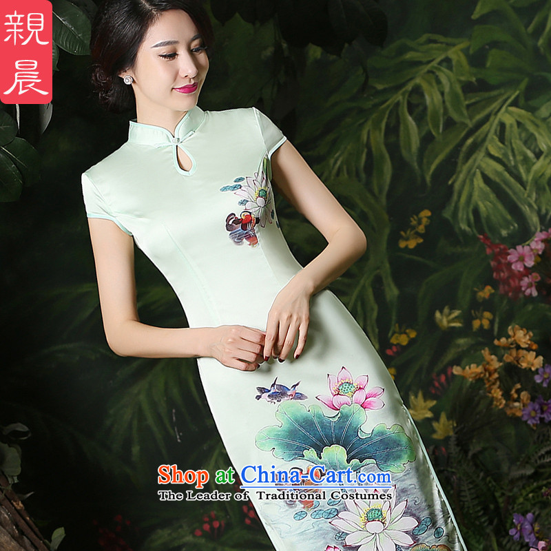 The pro-am new cheongsam dress dresses 2015 summer daily retro style, improvement of Sau San long qipao female short-sleeved聽2XL