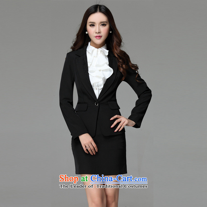 Web soft clothes 2015 spring outfits long-sleeved female pro kit skirts, trousers Korean version attire women thin Sau San black skirt燤
