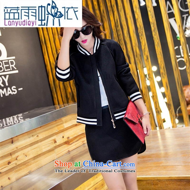 Ya-ting shop 2015 new products fall Korean female baseball serving two kits BXF1656 black聽M