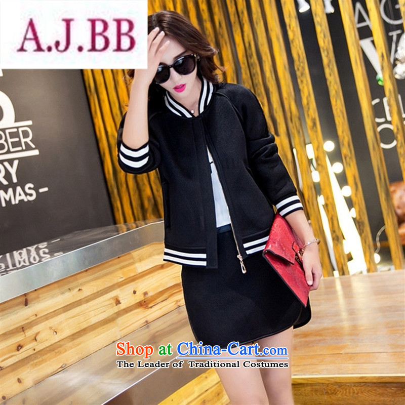 Ya-ting stylish shops 2015 Autumn replacing new products Korean female baseball serving two kits BXF1656 black聽M