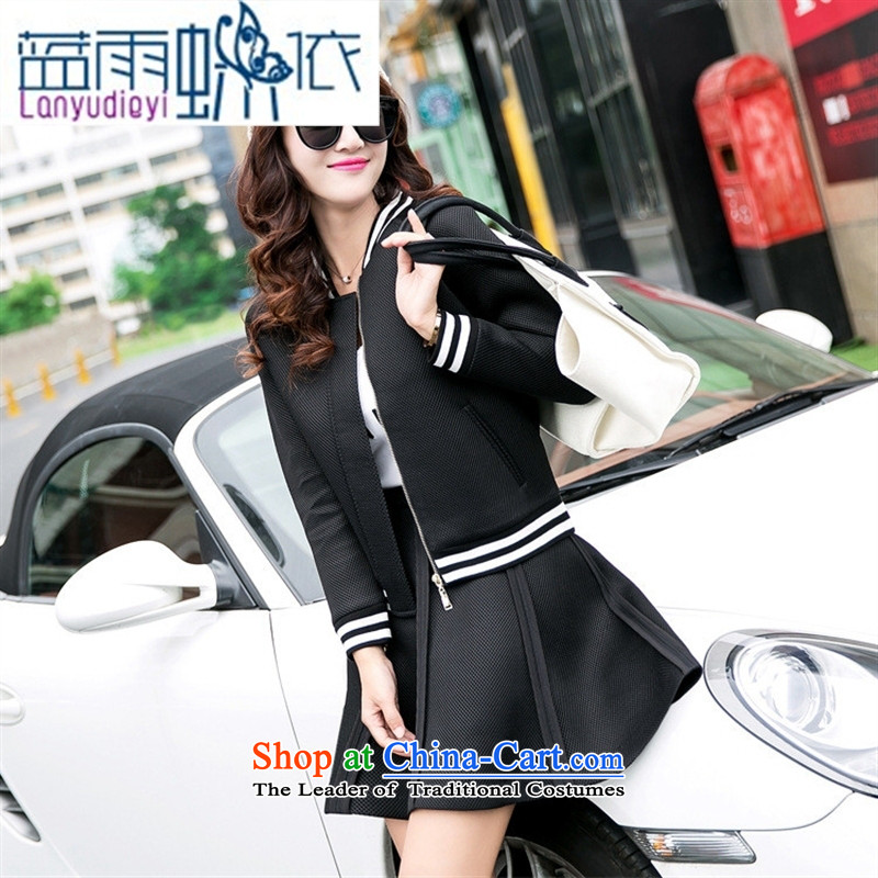 Ya-ting shop 2015 new products fall Korean female baseball serving two kits BXF1652 black聽M