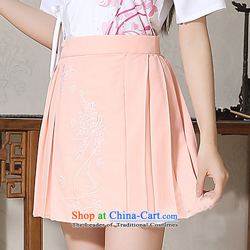 Syria micro-han-hour traditional Han-to-day school uniform women improved one-piece-ma short skirt school dress women to obtain half on the arm of the micro-han-You can multi-select attributes by using Package orange embroidery skirt