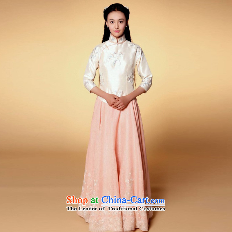Time to seize the rainbow man Syria Zheng Shuang with the Republic of Korea garment embroidery irrepressible 1919 students with Miss Cyd Wo Service Eminem costume embroidery miss skirts are suitable for photo building 160-175cm