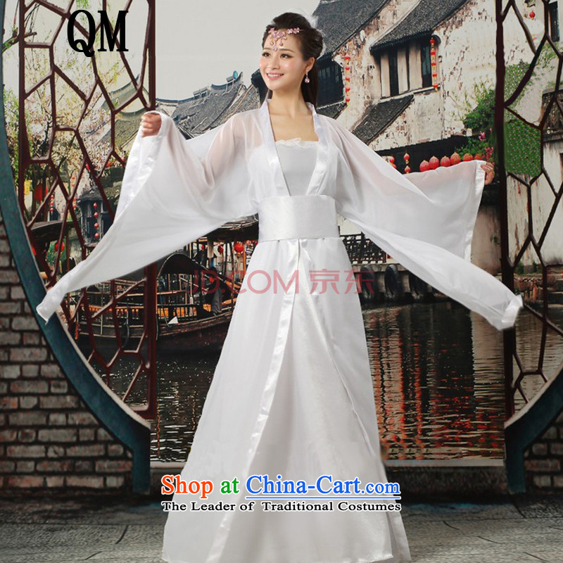 At the end of Light Classical Han-Tang dynasty ancient Han-Princess women?CX7 cosplay costumes?white breast 100