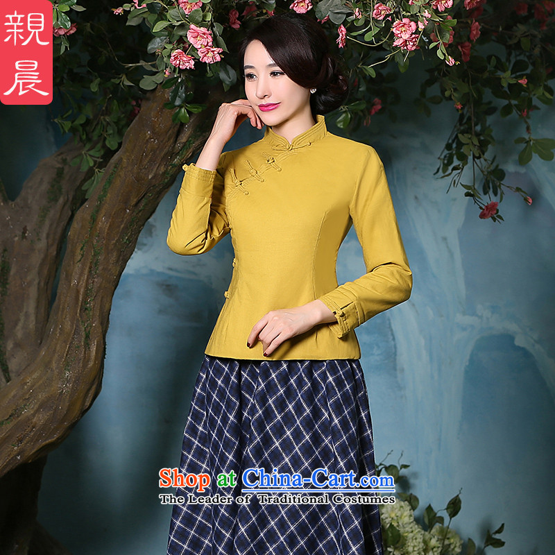 The pro-am cotton linen cheongsam dress 2015 autumn and winter new thick daily improved stylish dresses, Sau San shirt shirt?2XL
