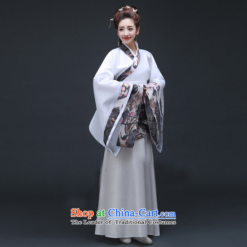 Time Syrian women's Han-dynasty historian classic and elegant classical songs clothing were deeply yi fairies dancing in the Tang dynasty, Han stage Gwi-Oi-lin said that the services color