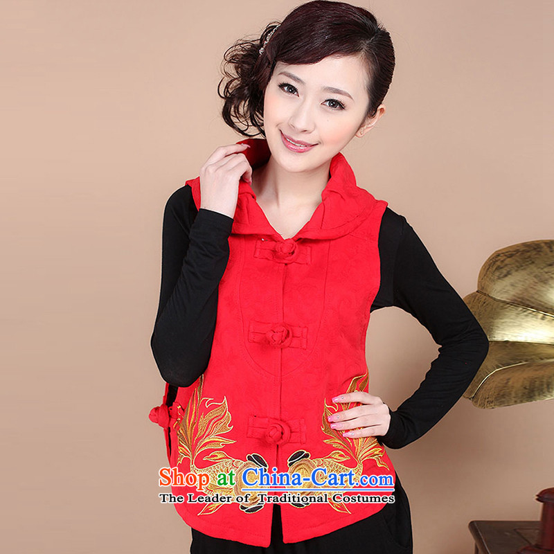 Kim Man sa?  2015 Autumn new women's older), a national wind embroidery Tang dynasty, a girl mothers?XXXL red